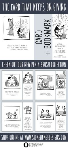 A card and bookmark in one! Check out our new Pen and Brush Collection. #greetingcards