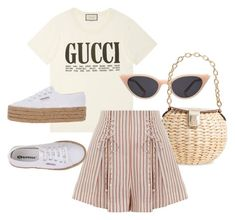 """Untitled #23747"" by florencia95 ❤ liked on Polyvore featuring Gucci, Illesteva, Frances Valentine, Zimmermann and Superga"