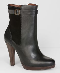 High heeled Levi ankle boots.