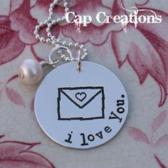 love notes necklace personalized with your wording.