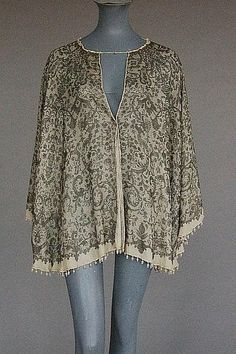 A Mariano Fortuny stencilled silk batwing jacket, early 20th century