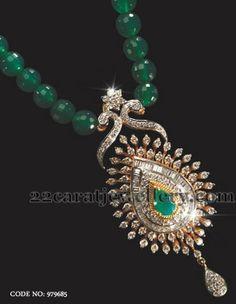 Jewellery Designs: Abharan's Diamond Locket