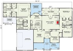 COOL house plans offers a unique variety of professionally designed home plans with floor plans by accredited home designers. Styles include country house plans, colonial, Victorian, European, and ranch. Blueprints for small to luxury home styles. Farmhouse Floor Plans, Farmhouse Flooring, Country House Plans, New House Plans, Dream House Plans, Modern Farmhouse, One Level Homes, Sims House, Home Design