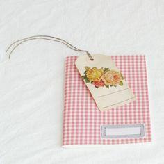 Notizheftchen Vichykaro rosa bei la mesa