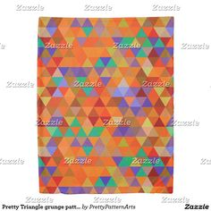 Pretty Triangle grunge pattern I + your ideas Duvet Cover