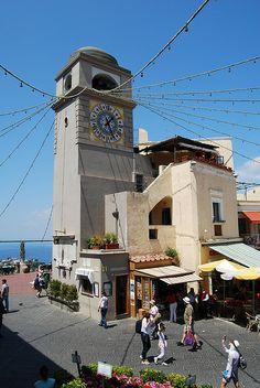 The Clock Tower at La Piazzetta, Capri