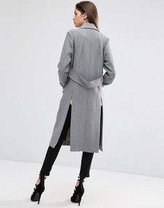 ASOS COAT WITH TAB BACK DETAIL #fashion #trend #jewelry #onlineshop #shoptagr