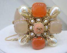 Vintage Chanel Pate-de-verre Cuff