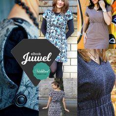 """Basic-Kleid """"Juwel"""" ist ein Schnitt, der sehr schnell genäht ist. Durch die Knöpfe an der Schulter ist es trotzdem ein echtes Highlight. Es kann in den Größen xxs-xxxl genäht werden."""