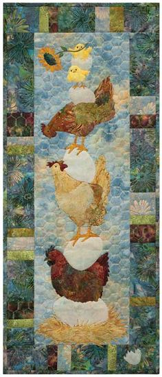 awesome quilting in a chicken wire pattern.