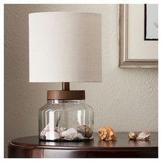Wood & Glass Fillable Uplight (Includes CFL Bulb) - Threshold™