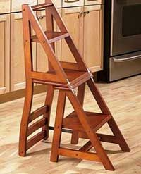 Wooden Folding Chair That Turns Into A Step Ladder I Want