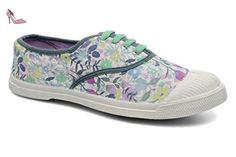 Tennis lacet femme Liberty fleurs aquarelle Bensimon - Chaussures bensimon (*Partner-Link)