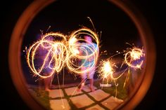 Fun with sparklers :)