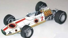 F1 Paper Model - 1968 BAR Lucky Strike Brabham BT26 Paper Car Free Vehicle Paper Model Download
