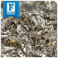 If you're having trouble getting baked-on food off of a glass pan or an oven rack, use dishwashing liquid and a ball of aluminum foil in place of a steel-wool soap pad. It's an easy way to recycle those small but perfectly good pieces of aluminum foil that you don't want to throw out.
