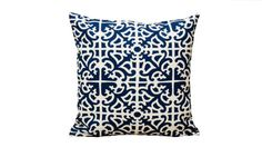 blue and white Waverly pillow
