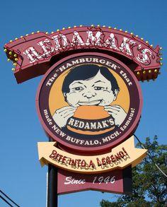 Redamak's Hamburgers Since 1946 ~ Classic Neon Sign. New Buffalo, MI