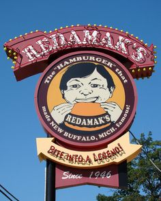 Redamak's Hamburgers Since 1946 ~ Classic Neon Sign. New Buffalo, MI