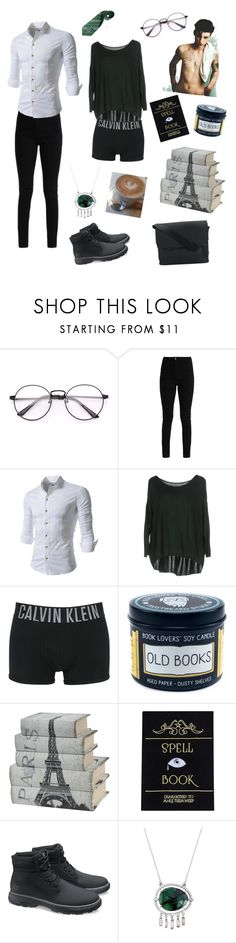"""""""The Slytherin bookworm"""" by hadrian-conners ❤ liked on Polyvore featuring Raquel Allegra, Calvin Klein Underwear, Caterpillar and Troubadour"""