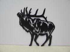 Bull Elk 024 ST 2012 Metal Art Silhouette