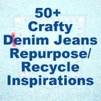 over 50 crafty denim jeans repurpose/recycle inspirations @katie matthews