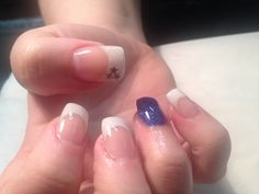 Gel nails with feature glitter nail and stars