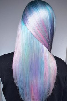 Hair Color 2018 Pastel Rainbow Hair ❤️ Pastel hair colors speak not only about the rebellion within you but also about the way you accept the world. The brighter is the better, right? Pastel Rainbow Hair, Pastel Purple Hair, Hair Color Purple, Purple Ombre, Pastel Goth, Unicorn Hair Color, Vivid Hair Color, Lilac Hair, Pastel Colors
