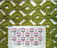 gráfico de crochê,esquema de crochê
