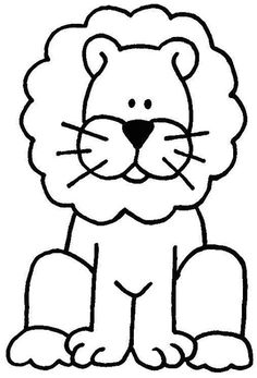 Art Drawings For Kids, Drawing For Kids, Easy Drawings, Animal Drawings, Animal Coloring Pages, Coloring Book Pages, Printable Coloring Pages, Kindergarten Coloring Pages, Animal Worksheets