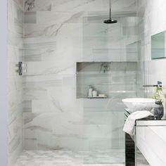 Marble Tiles For Kitchens – storiestrending.com Marble Bathroom Floor, Marble Tiles, Bathroom Flooring, Wall Tiles, Mosaic Bathroom, Marble Floor, White Bathroom, Bathroom Faucets, Master Bathroom