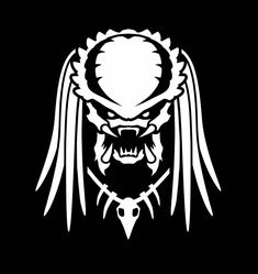 Predator Inspired Face With Blades 11 in Vinyl Decal Alien AVP Sticker Die Cut Predator Cosplay, Predator Helmet, Predator Alien, Les Aliens, Motorcycle Paint Jobs, Alien Art, Stencil Art, Stencils, Horror Comics