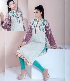 Doha embroidered lawn kurtis collection 214_B