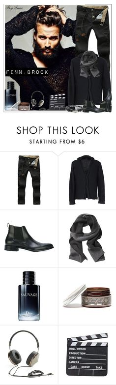 """""""Finn .Brock"""" by anne-977 ❤ liked on Polyvore featuring Giorgio Armani, Gucci, Givenchy, Banana Republic, Christian Dior, Apothecary 87 and Frends"""