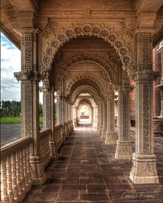 Temple Photograph - Mandap Arches by Louise Reeves