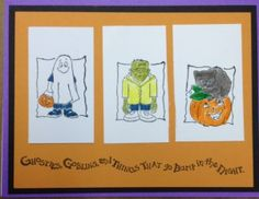 Adorable set of little monsters from Art Impressions