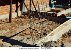 Reinforced Concrete Beam (For Stairs Construction), House Construction Site, Laos