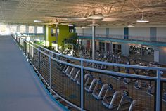 Track, Weights & Cardio | The new 67,000 sg. ft. facility has everything needed for fitness within the gym, training center or pool; from a 24/7 accessible main fitness floor with more more than 60 cardio machines, a 1/10th mile elevated Mondo track , a 6,200 sq. ft. indoor sports performance center's synthetic turf, specialized activity and multi-purpose rooms, a 4 lane 25-yard lap pool, a therapy pool and a co-ed whirlpool. All being supported by a friendly, professionally-certified staff.
