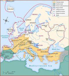 Viking Attacks on Europe around 1000 CE