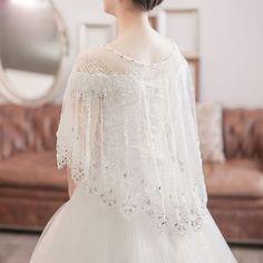 New Style Wedding Shawl High Neck Lace Applique Tulle Wedding Bolero for Bride Bridal Jackets SA898
