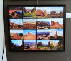 Sixteen Utah Landscape Icons collage. My artwork on display at Images Art Gallery, Overland Park, Kansas, December. 7320 W 80th St Overland Park, KS 66204