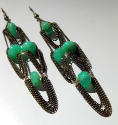 Draped Chain Chandelier Earrings