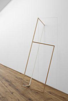 Line Sculpture 7 2013 Wood, string, paint, metal rod 74 x 33 x 34 inches / 188 x 83.8 x 86.4 cm