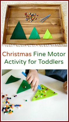 Simple, fun way to help preschoolers strengthen fine motor skills. {Buggy and Buddy}