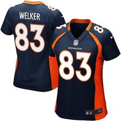Nike Wes Welker Denver Broncos Women's Navy Blue Alternate Game Jersey
