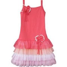 NEW Isobella & Chloe Spring Has Sprung Coral Tiered Tulle Bow Easter Dress 14