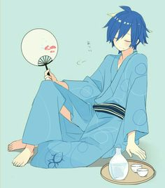 Image discovered by Vocaloid-KaiMiku. Find images and videos about vocaloid, kimono and shion on We Heart It - the app to get lost in what you love. Vocaloid Kaito, Kaito Shion, Anime Oc, Anime Guys, Blue Hair Anime Boy, Fanart, Iroha, Manga Games, Shiro