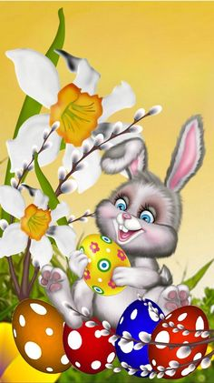 Congratulations to Easter # 2019 # 2020 congratulate # Easter greetings card Source by g Easter Art, Easter Crafts, Easter Bunny, Easter Eggs, Happy Easter Wallpaper, Wallpaper Spring, Easter Pictures, Diy Ostern, Free Cartoons