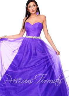 Precious Formals P21038 - Purple Paradise Strapless Beaded Ball Gown Prom Dresses Online #thepromdresses