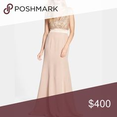 NWT Vera wang Nordstrom blush sequin bodice dress Stunning piece by Vera wang. Love the sequins on the bodice and never worn! Elegant draped back. Perfect for formal events or weddings! Sold out everywhere. Color is called blush Vera Wang Dresses Wedding